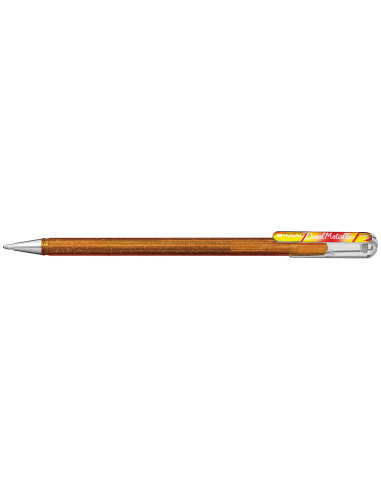 Στυλό Gel Dual Metallic Pentel Μαύρο 1.0mm