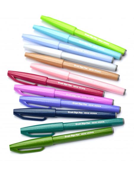 Μαρκαδόρος Καλλιγραφίας Brush Sign Pen Pentel Μαύρο